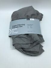 Made By Design Light Filtering Curtain Set 2 Panels Gray 84""