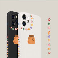 Cute Side Cartoon Lucky Bear Phone Case Cover For Apple iPhone12ProMax 11 7 8 XR