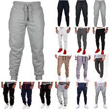 Mens Slim Fit Jogging Bottoms Tracksuit Skinny Joggers Sweat GYM Pants Trousers