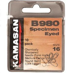 Kamasan B980 Bait Hooks Straight Eye Bronze Finish Barbed * New 2021 STOCKS *