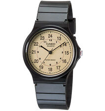 Casio MQ24-9B, Classic Analog Watch, Black Resin Band, Military/Standard Time