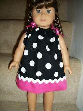 American Girl 18 in doll Pillowcase dress Dot Pink