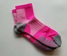 Cool Max Soks Socks Pink & gray  New Size 9-11 Lot of 2 pair