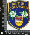 VINTAGE BRITISH COLUMBIA EMBROIDERED SOUVENIR PATCH WOVEN CLOTH SEW-ON BADGE
