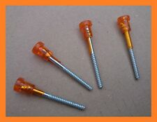 Fiat 126 Lights Plastic Orange Head Long Screw - Set of 4 (four)