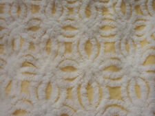 Fabric Piece #1521 - Golden Yellow & White Hofmann Vtg Chenille Bedspread