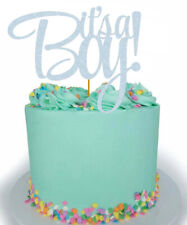 It's a Boy! Glitter Cake Topper Baby Shower Gold Silver Blue Rose Gold Boy Cute