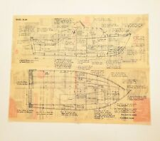 1950s Vintage Boat Blueprints 20' Outboard Cruiser Basic Builders Plan