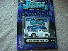 MUSCLE MACHINES '56 FORD PICKUP 01-50 WHITE MIP FREE USA SHIPPING