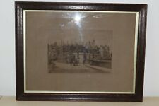 Original Signed Etching by Edward Burrow 1901 - Eton College from Barnes Bridge
