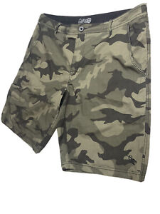 Da Hui Camouflage Army Green Hybrid Collection Board Shorts 38 Inseam 11