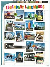 1 x Sheet of New Zealand MUH stamps ($11.95 Bargain) (Legendary Landmarks)
