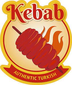 PRINTED KEBAB VINYL WINDOW GRAPHIC STICKER DECAL Shop window Sticker