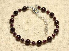 Bracelet pierres naturelles en perles de grenat de 6 mm-brac106