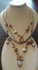 Betsey Johnson Golden Stones three strings necklace