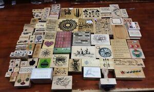 HUGE Lot of 84 Vintage Rubber Stamps Various Creators + Styles