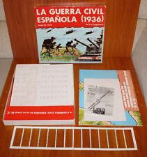"""JUEGO DE MESA NAC """"LA GUERRA CIVIL ESAÑOLA (1936)"""" INCOMPLETO DE LOS AÑOS 80"""