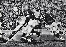1950's NFL FOOTBALL San Francisco 49ERS & Los Angeles RAMS Game Photo Art 11x14