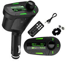 Verde Inalámbrico para coche de radio Fm Transmisor Mp3 Control Remoto Apple Iphone 6 Plus + 6 + 6plus