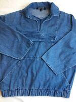 Womens J Peterman Denim Pullover Large Jacket Anorak