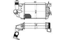 NRF Intercooler radiador admisión de aire 30307