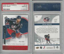 2008 Upper Deck SP Hockey, #142 Rick Nash, Blue Jackets, PSA 10 Gem