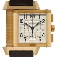Jaeger LeCoultre Reverso Squadra Chronograph 18k Rose Gold Watch & Box  230.2.45
