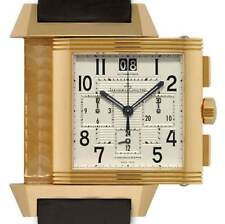 Jaeger LeCoultre Reverso Squadra Chronograph 18k Rose Gold Watch & Box  230.2.45