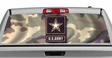 Truck Rear Window Decal Graphic [Military / US Army] 20x65in DC03701
