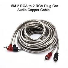 High Quality 5M 2 RCA to 2 RCA Plug Twisted-Pair Car Stereo Audio Copper Cable
