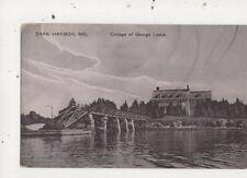 Dark Harbor Me College Of George Lewis USA Vintage Postcard 934a