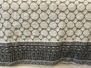 The Company Store Triellage Cotton Quilt *King Size* Black White Geometric Print