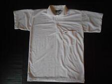 Vintage Men HANG TEN Sz S White Polo Golf Shirt EUC Hubao Athletic Short Sleeve