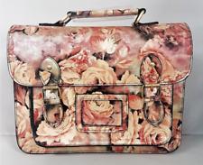 Ladies Ella Pink Rose Satchel Womens Shoulder Strap Handbag Purse Holiday Bag