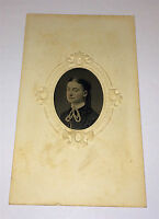 Antique Beautiful Victorian Woman, Lace Fashion! Tinted Cheeks CT Tintype Photo!