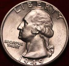1949-D Denver Mint Silver Washington Quarter