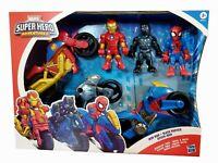 🔥 Marvel Super Hero Adventures Iron Man, Black Panther & Spider-Man  Playskool