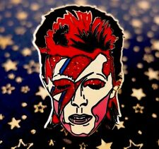 David Bowie Aladdin Sane, Ziggy Stardust Pin Badge. Life On Mars, Ashes To Ashes