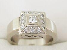 K51934 massiv edler Diamantring 750/18k Weißgold Gr.52 Brillant Kissen Dame