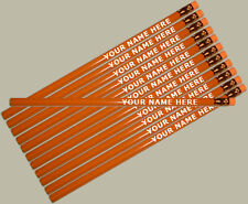 12 pkg - Orange Personalized Hexagon Pencils - ** FREE PERZONALIZATION**