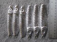 6 fishing bulk jigs lures 8oz Herring Spoons jigging no hooks