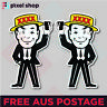 XXXX Man Mr FOUREX Beer Can Sticker Suit Bar Camping Fishing Boat Car 4x4 JDM