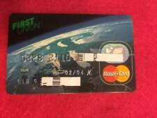 "VINTAGE OLD CREDIT CARD: FIRST UNION ""EARTH CARD"" MASTERCARD"