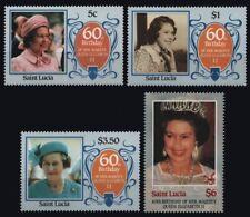 St. Lucia 1986 - Mi-Nr. 834-837 ** - MNH - Queen Elisabeth II