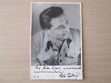 Fabrizi, Aldo. Dedica e firma autografa su foto.