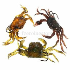 CR100 Soft Fish Fishing Lures Crab Bait with Sharp Hooks Simulation Saltwater