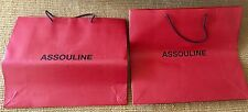 Assouline Paper Shopping Bags 2 Logo Brick Red Black Thick NEW
