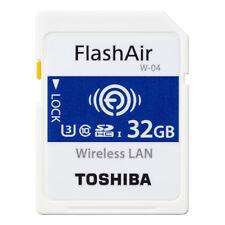 Toshiba FlashAir W-04 32GB Wireless WiFi SDHC SD Memory Card UHS-I U3 Class10 4K