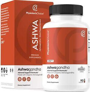 Ashwagandha 1950mg Organic Ashwagandha Root Powder with Black Pepper Extract