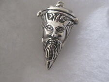 The Green Man sterling silver Conicle Hinged locket, UNUSUAL. pagan dowsing